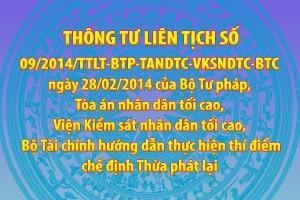 Thông tư liên tịch số 09/2014/TTLT-BTP-TANDTC-VKSNDTC-BTC ngày 28/02/2014